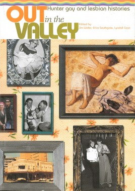 Montage of old images on front cover of book