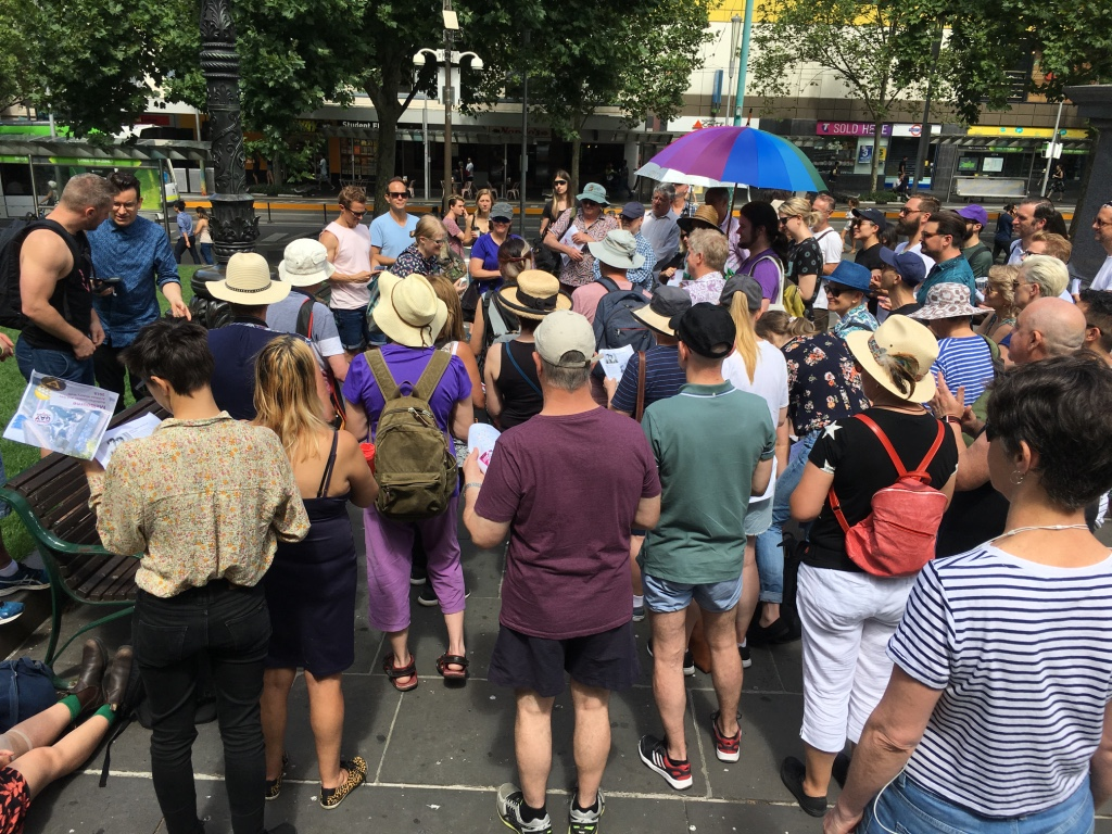 ALGA History Walk 2018 through Melbourne CBD